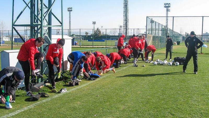 Утренняя тренировка в турецком Белеке
